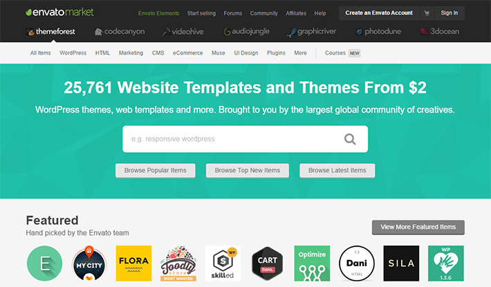 design envato themeforest