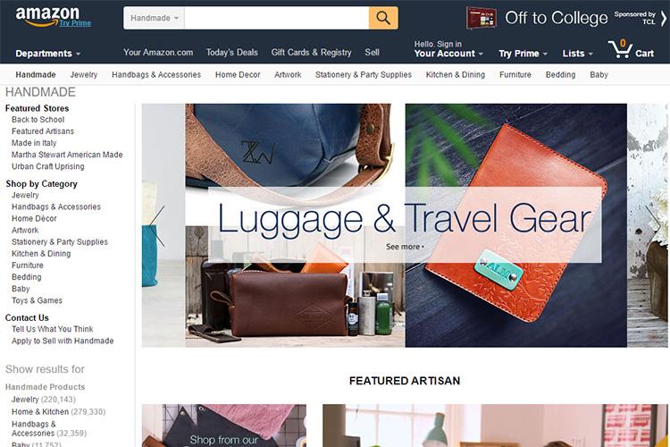 Amazon va lansa secțiunea Handmade pentru Europa