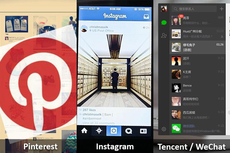 Noutăți de la Pinterest, Instagram și Tencent